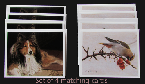pet portrait cards by Colette Theriault
