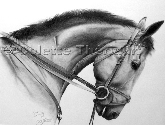 Horse Pet Portrait Painting