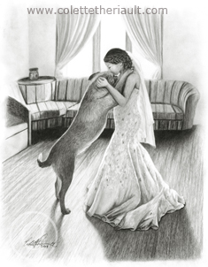 Dog and Bride