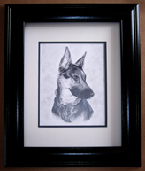 German Shepherd Framed Art