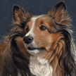 Therapy Dog painting in pastel
