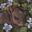 baby rabbit painting