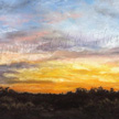 sunset painting in pastel