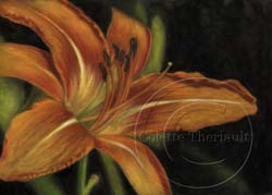 step 4 daylily flower painting