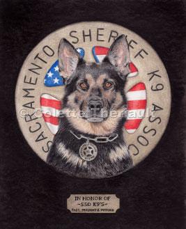 logo/portrait of police dog heroes