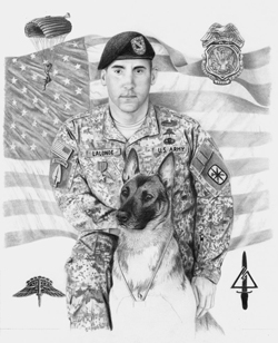 step 5 of military dog artwork
