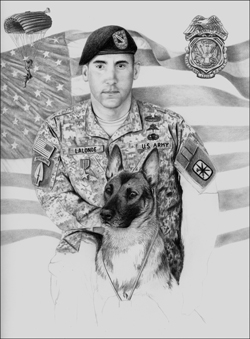 step 4 of military dog artwork