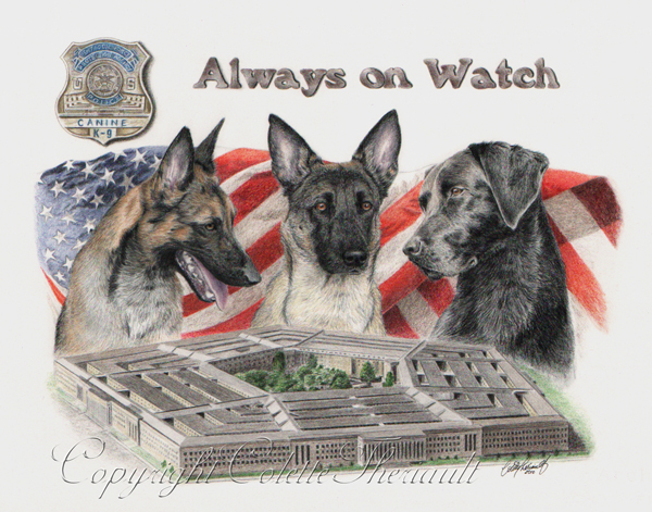 Artwork for the US Pentagon Police K9 Explosive Detection Unit