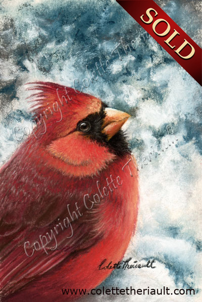 Northern Red Cardinal painting