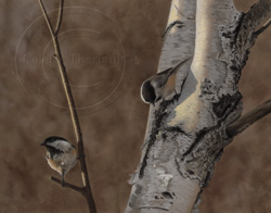 chickadees painting