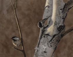 chickadees painting